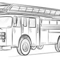 Camion De Bomberos Para Colorear E Imprimir