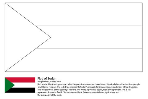 Dibujo De Bandera De Sudán Para Colorear