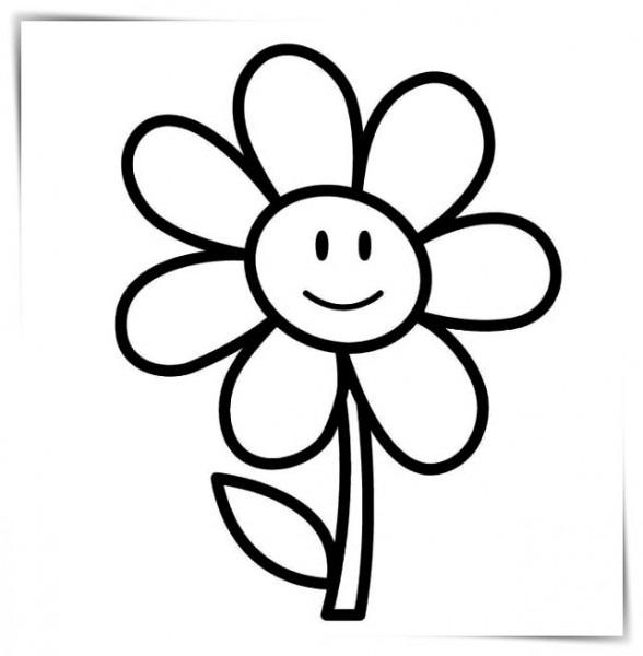 Flores Bonitas Dibujos Para Colorear