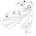 Dibujo Princesa Elsa Para Colorear