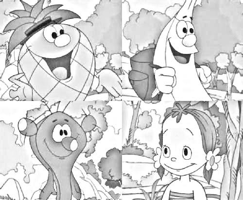 Dibujos Animados Para Colorear  Fruitis Para Colorear