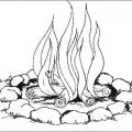 Dibujos De Llamas De Fuego Para Colorear