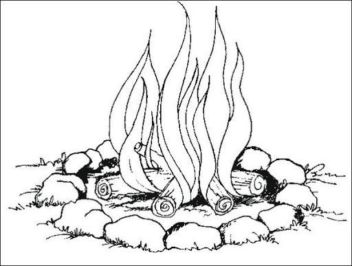 Dibujo De Fuego Para Colorear