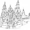 Catedral De Santiago Para Colorear