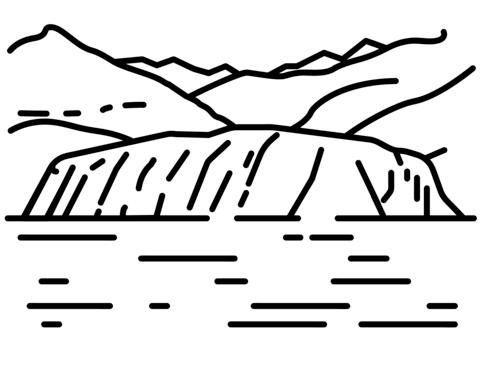 Dibujo De Glaciar Para Colorear