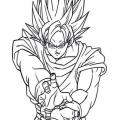 Dibujos De Goku Para Colorear Faciles