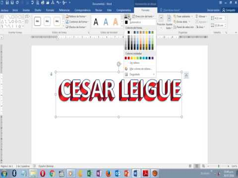 Crear Texto 3d En Word Bonitas Letras En Word