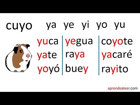Silabas Ya Ye Yi Yo Yu Para Niños