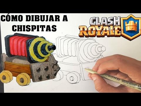 Cómo Dibujar A Chispitas De Clash Royale