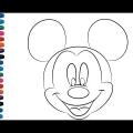 Cara Mickey Colorear