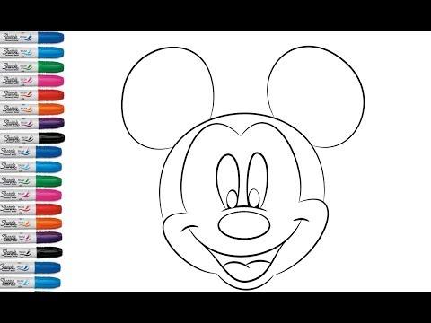 Como Dibujar Y Pintar La Cara De Mickey Mouse