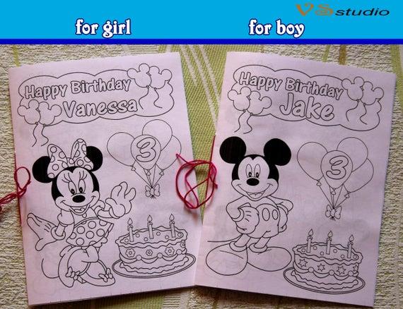 Minni Y Mickey Mouse Para Colorear Libro De Actividades