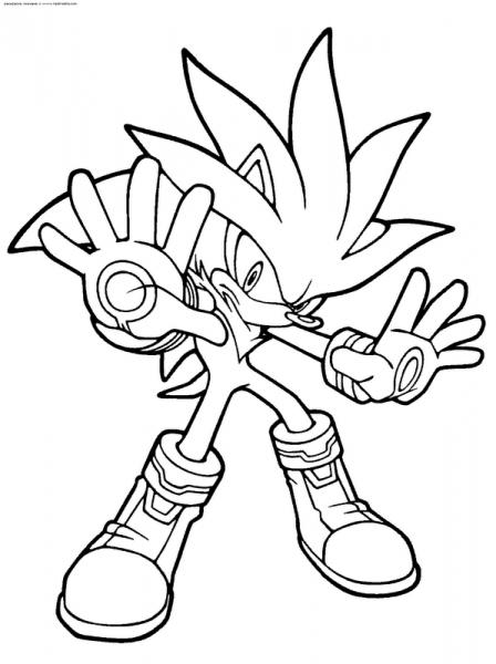 Dibujos De Shadow Y Sonic Para Imprimir