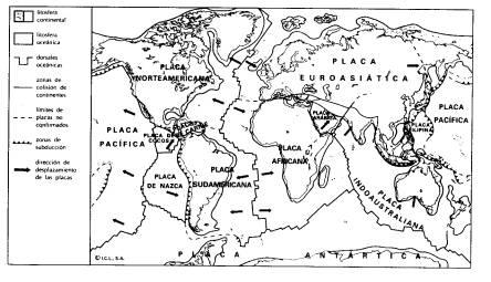 Dibujos De Mapa Mundi Y Sus Placas Tectonicas Para Colorear