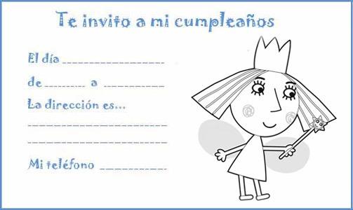 Manualidades Con Mis Hijas  Invitaciones De Cumpleaños Para Colorear