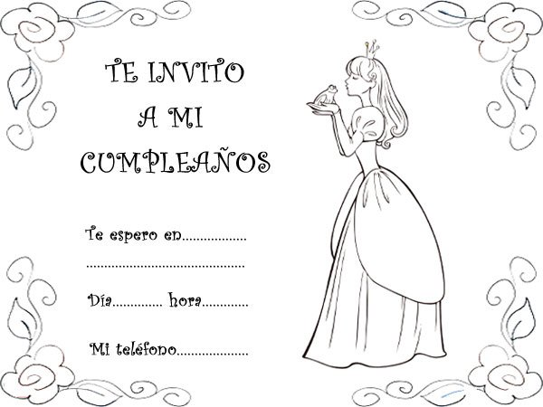 Invitaciones De Cumpleaños Con Princesas