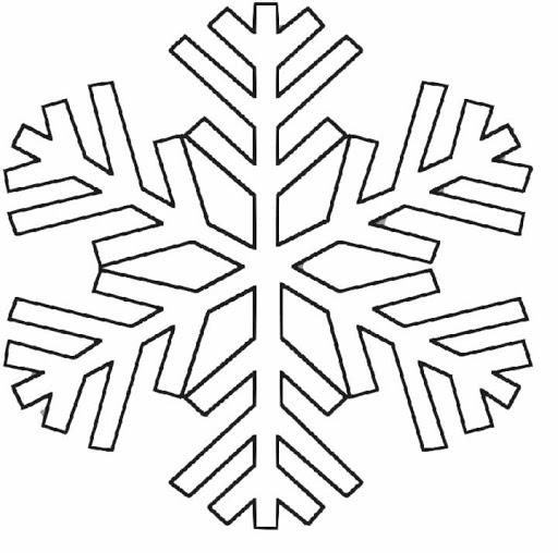 Dibujos Para Colorear Copos De Nieve