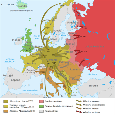 La Segunda Guerra Mundial En Europa 1939