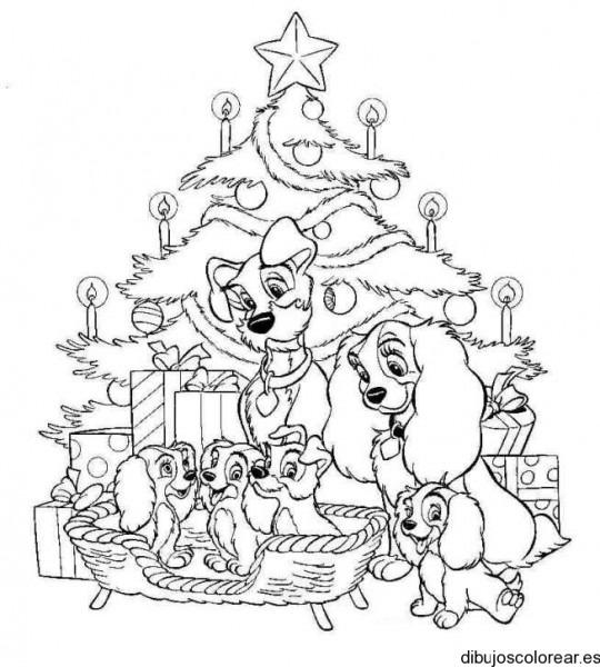 Dibujo De Perros En Navidad