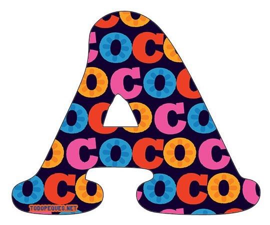 Letras Coco Disney Abecedario Para Descargar Gratis