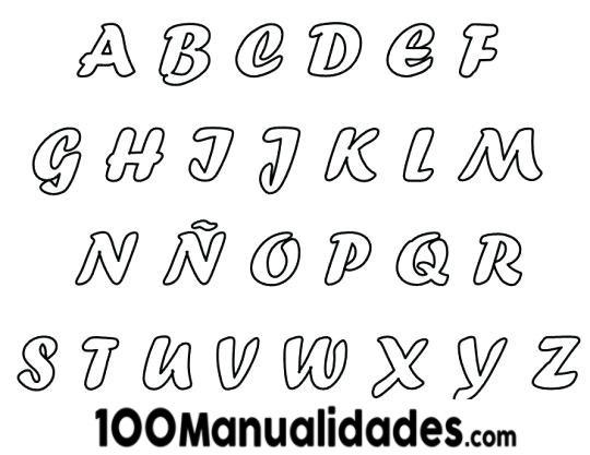 ▷ Moldes De Letras Medianas Y Grandes Para Imprimir Gratis