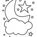 Dibujos Para Colorear Luna Y Estrellas