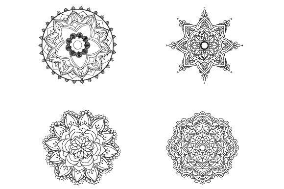 4 Mandalas Para Colorear Acmoladesign (graphic) By Ana Carmen