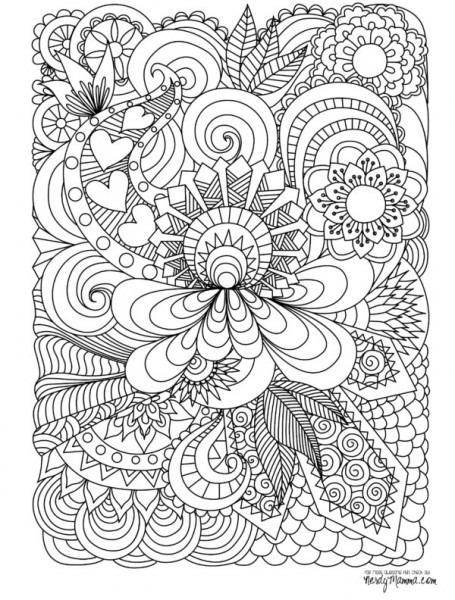 70 Mandalas Y Dibujos Dificiles Para Colorear 【2020】