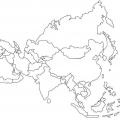 Mapa De Asia Para Colorear Sin Nombres