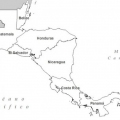 Mapa Centroamerica Colorear