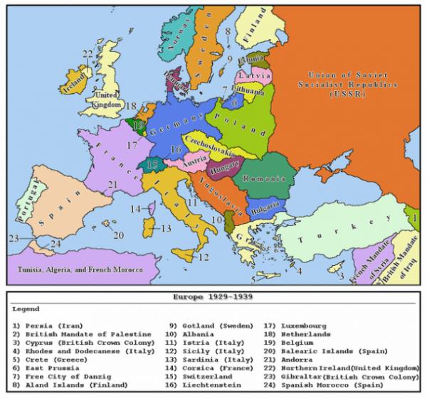 Mapa De Europa Antes Y Después De La Segunda Guerra Mundial