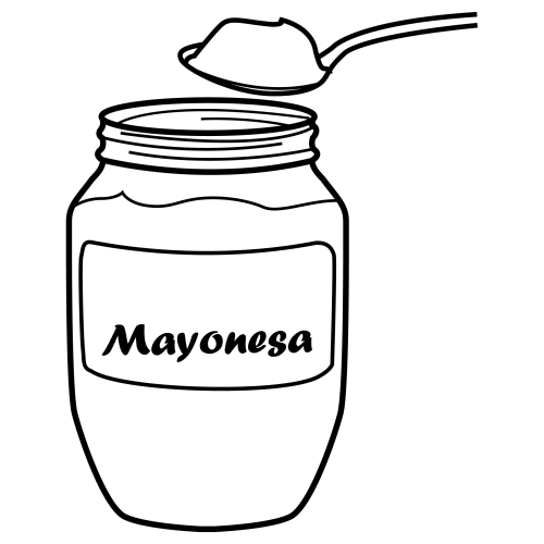 Mayonnaise, Free Coloring Pages