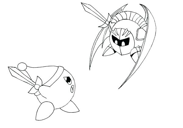 Meta Knight Coloring Pages At Getdrawings