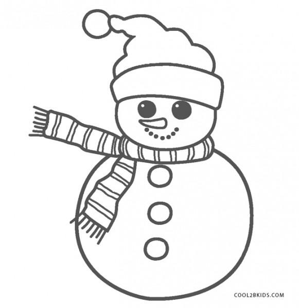 Dibujos De Muñeco De Nieve Para Colorear