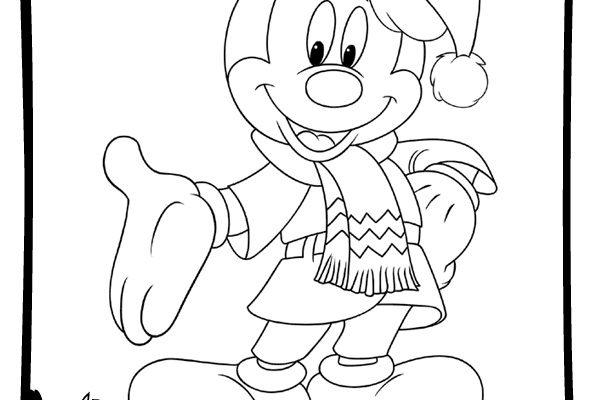 Dibujos Navidad Disney Para Colorear