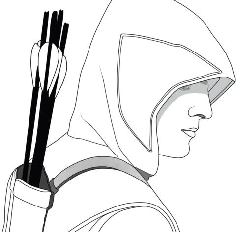 Dibujo De Oliver Queen De Green Arrow Para Colorear