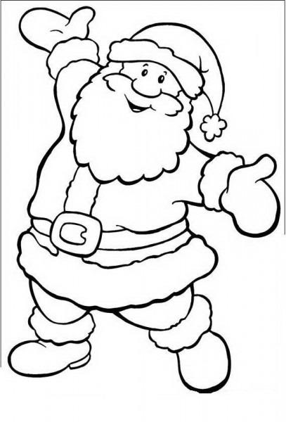 Colorea El Dibujos  Papá Noel Para Colorear Y Pintar