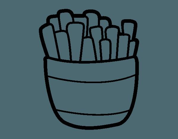 Dibujos Para Colorear Papas Fritas