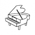 Imagen De Piano Para Colorear