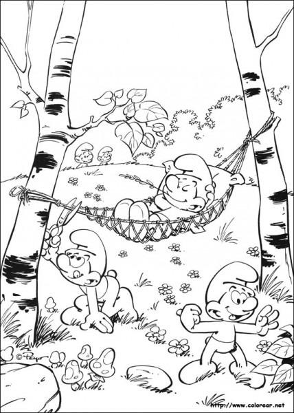 Dibujos Para Colorear De Los Pitufos
