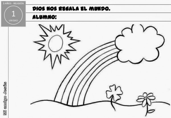 Mi Clase De Religión  Dibujos Para Colorear Infantil