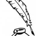 Dibujo De Una Pluma Para Colorear