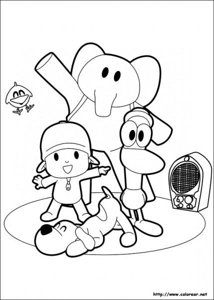 Dibujos Para Colorear De Pocoyó