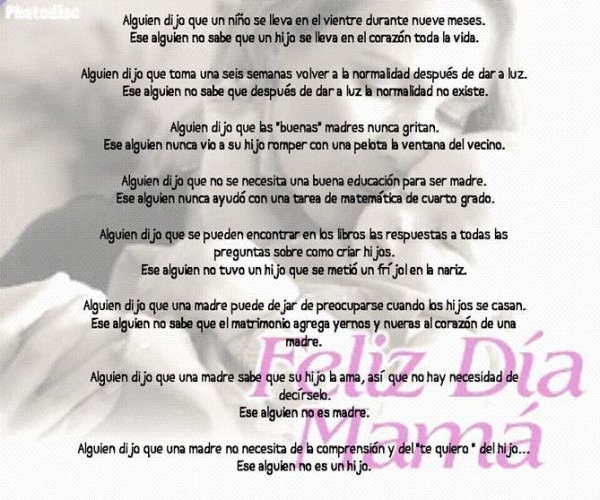 Poemas Día De La Madre Para Niños