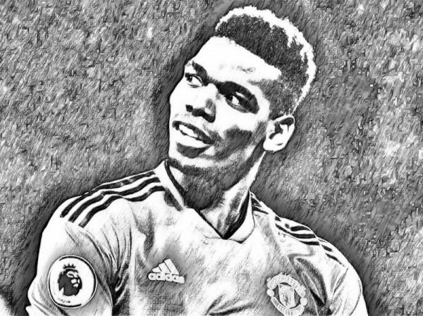 Dibujo Para Colorear Liga De Campeones 2019   Paul Pogba 2019 1