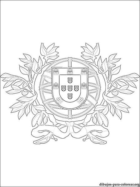 Dibujo De Bandera De Portugal Para Colorear
