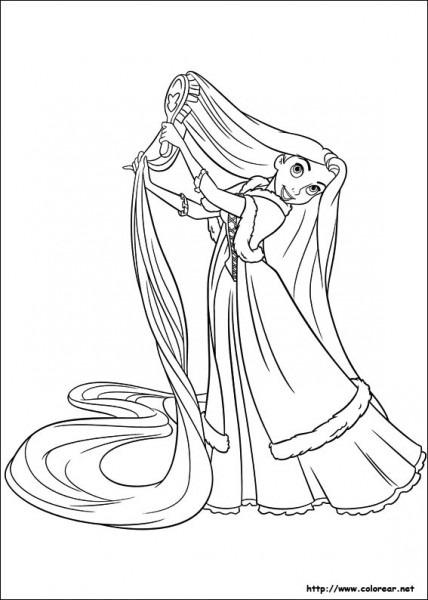 Dibujos Para Pintar  Dibujos Para Pintar Rapunzel