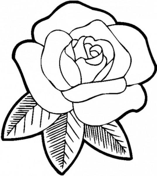 Los Dibujos Para Colorear   Dibujos De Rosas Para Colorear   Ramos