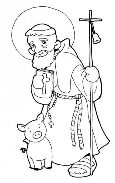 Dibujos Para Catequesis  San Antonio Abad