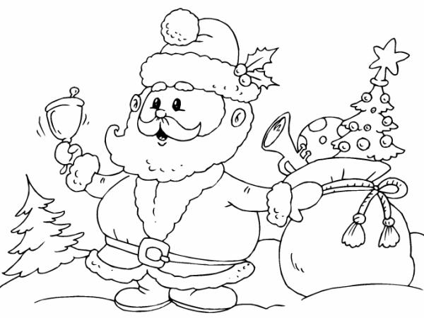 Santa Claus Regalos Imagenes De Navidad Para Colorear